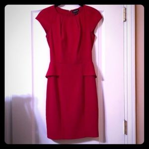Stunning Red Peplum Dress - for work or party